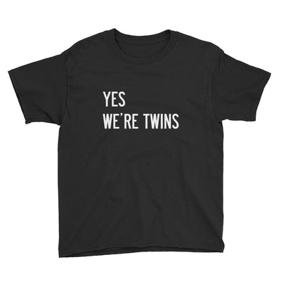 Yes We're Twins Boys T-shirt (Black)