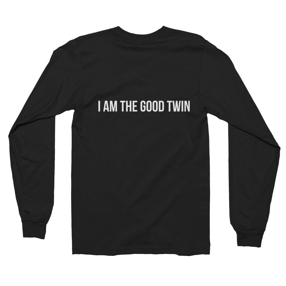 I'm The Good Twin Unisex Long-sleeve Shirt (Black)