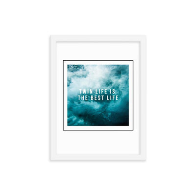 Twin Life is The Best Life FRAMED WALL ART