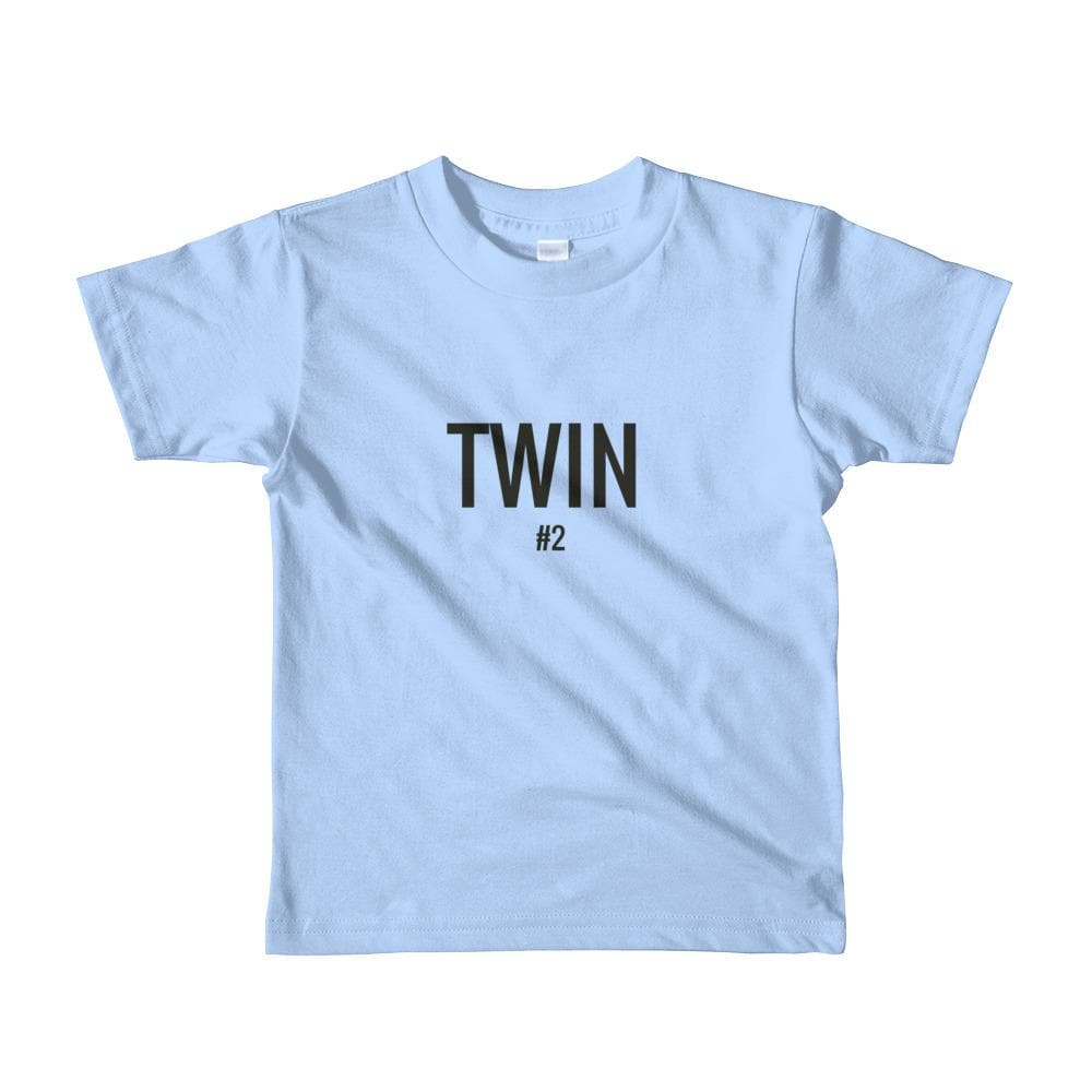 Twin #2 Print Toddler T-shirt (Light Blue)