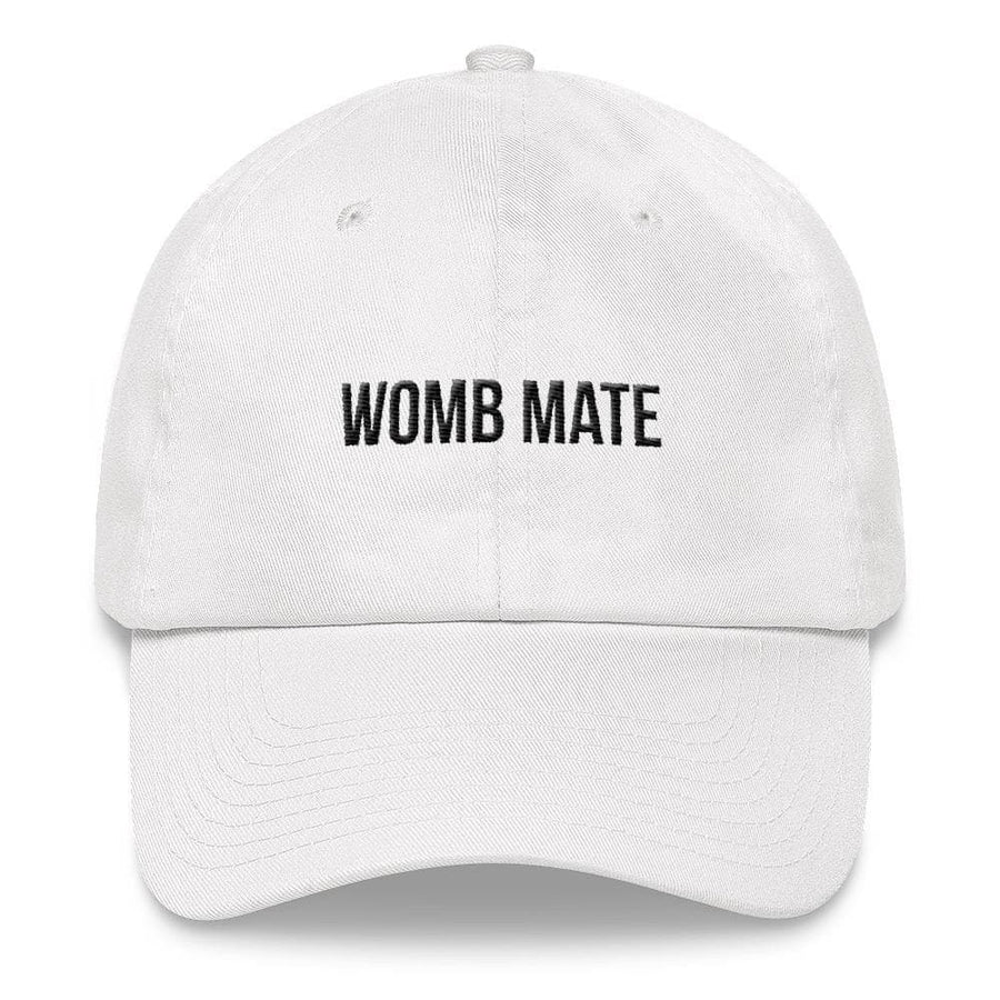 WOMB MATE HAT (WHITE) - Fashion for twins TWINNING STORE