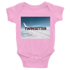 Twinsetter Twin Baby Onesie (Pink)