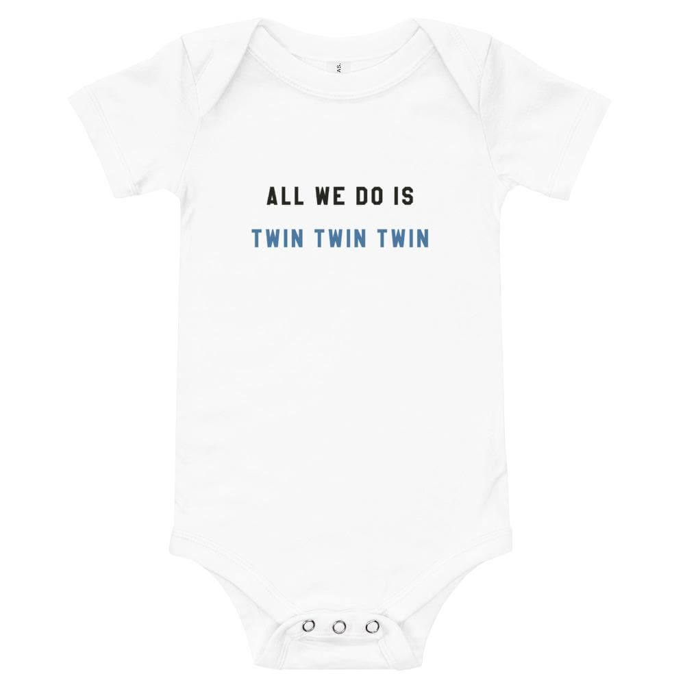 All we do is twin twin twin one piece (White)