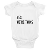 YES WE'RE TWINS ONESIE (WHITE) - Fashion for twins TWINNING STORE