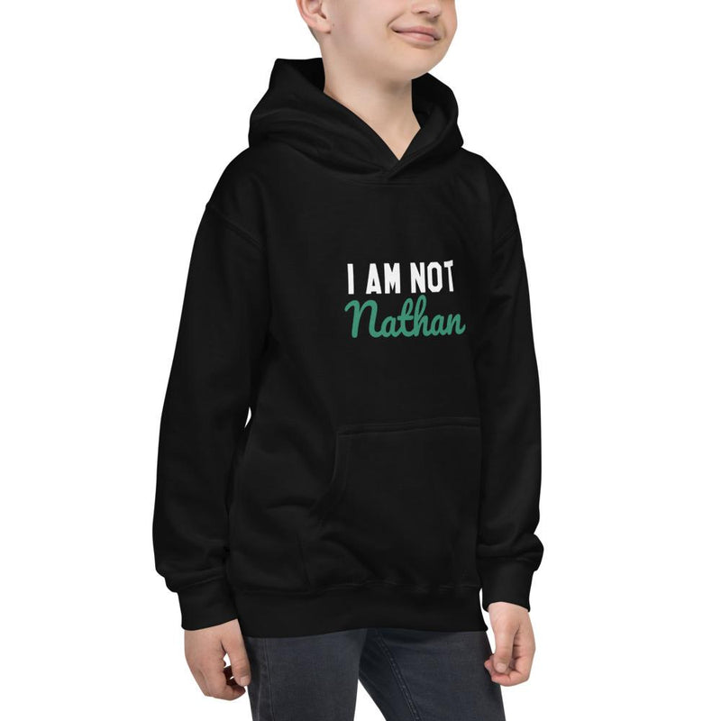 CUSTOMIZABLE I AM NOT... YOUTH HOODIE (BLACK)