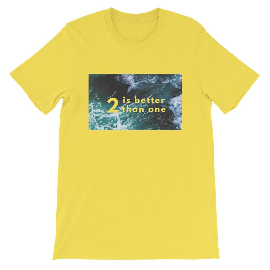 2 IS BETTER THAN ONE T-SHIRT (Yellow) - Fashion for twins TWINNING STORE