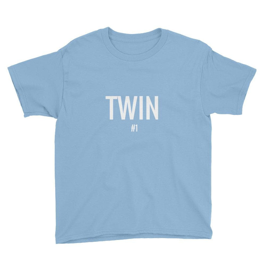 Twin #1 Print Boys T-shirt (Light Blue)