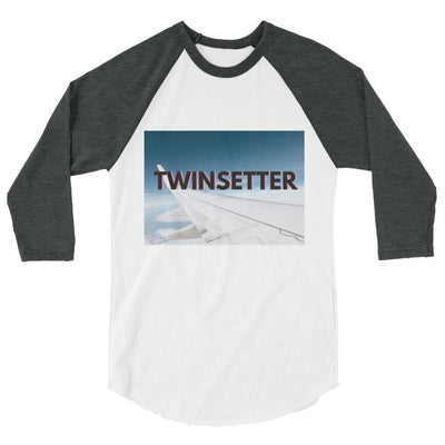 Twinsetter 3/4 Sleeve Shirt (White/Grey)