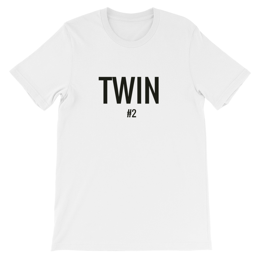 TWIN #2 PRINT T-SHIRT (WHITE) - Fashion for twins TWINNING STORE