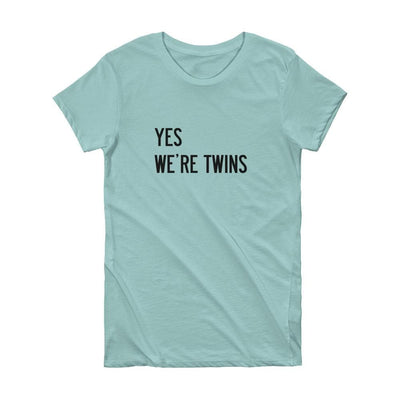 YES WE'RE TWINS T-SHIRT (MINT) - Fashion for twins TWINNING STORE