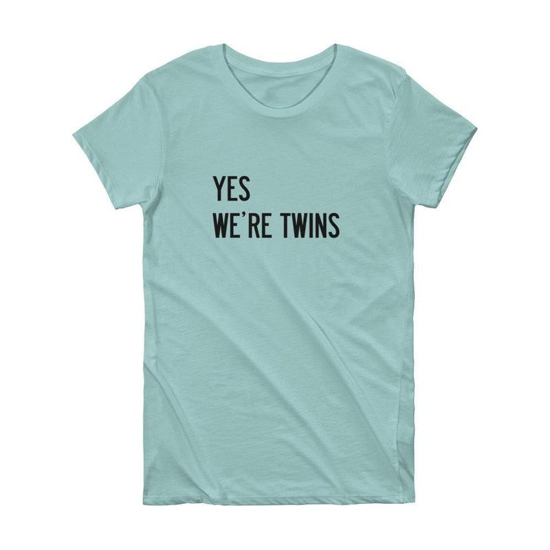 Yes We're Twins T-shirt (Mint) - Twinning Store