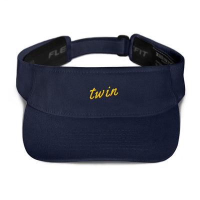 TWIN VISOR HAT (NAVY) - Fashion for twins TWINNING STORE