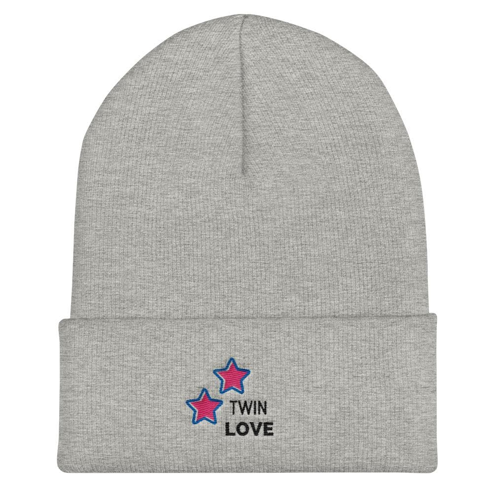Twin Love Cuffed Beanie (Grey)