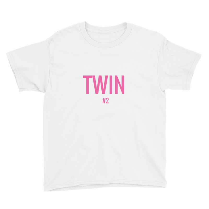 Twin #2 Print Girl T-shirt (White)