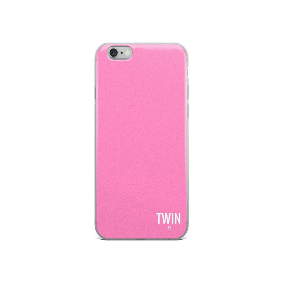 TWIN #2 IPHONE CASE (PINK) - Fashion for twins TWINNING STORE