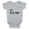 YES WE'RE TWINS (GREY) - Fashion for twins TWINNING STORE
