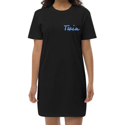 Twin Organic Cotton T-shirt Dress (Black)