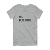 Yes We're Twins T-shirt (Grey)