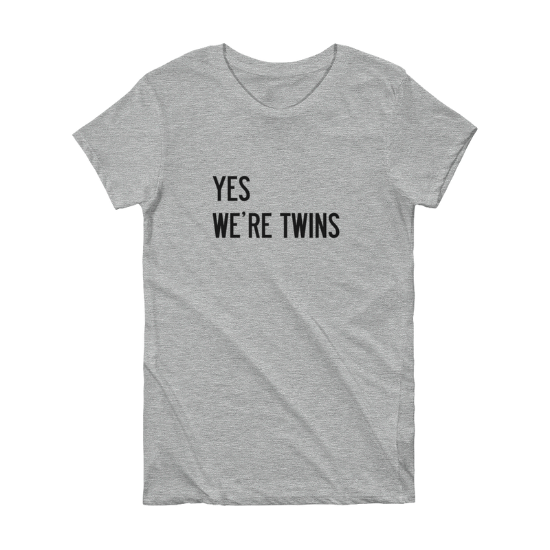 Yes We're Twins T-shirt (Grey) - Twinning Store