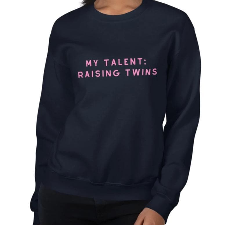 My Talent: Raising Twins - Sweater (Navy)