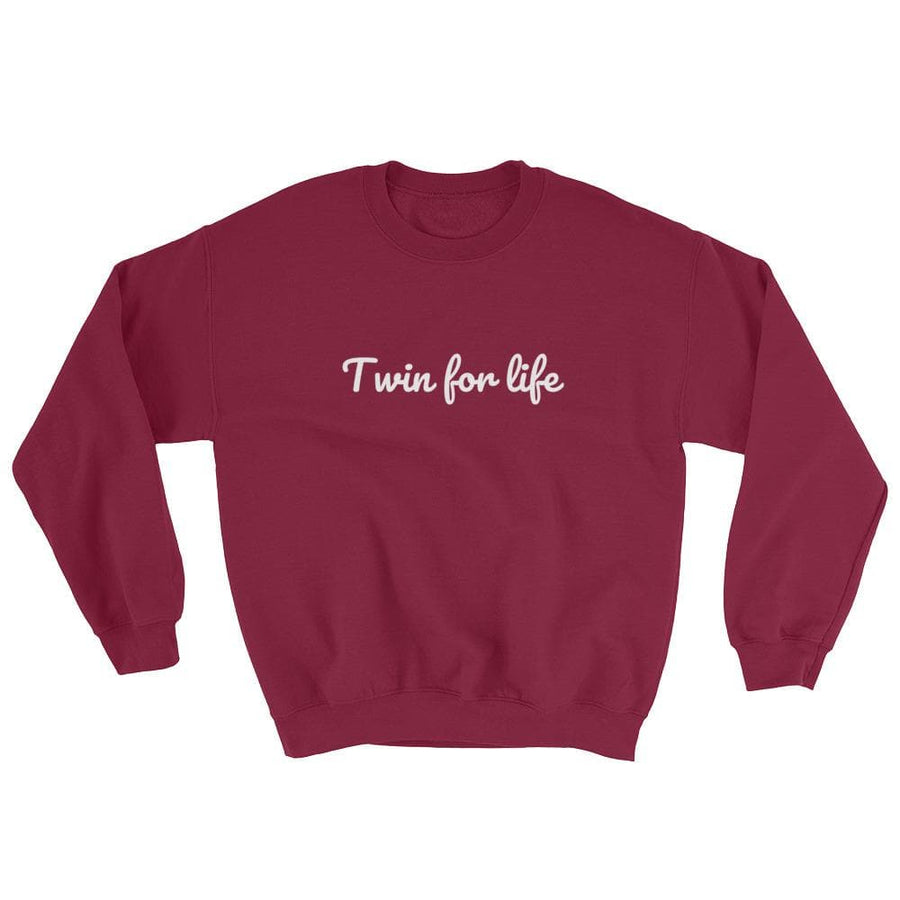 TWIN FOR LIFE SWEATER (MAROON) - Fashion for twins TWINNING STORE