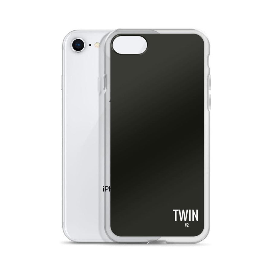 TWIN #2 IPHONE CASE (BLACK) - Fashion for twins TWINNING STORE