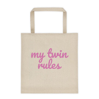 My Twin Rules Tote Bag
