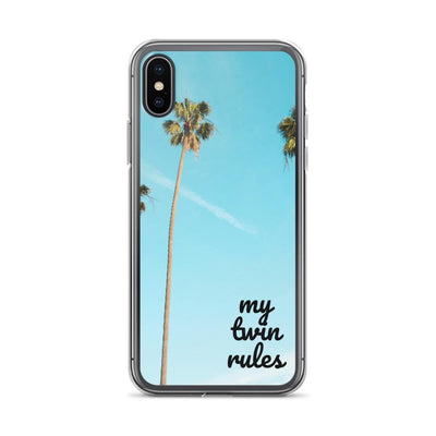 My Twin Rules Iphone Case - Fashion for twins TWINNING STORE