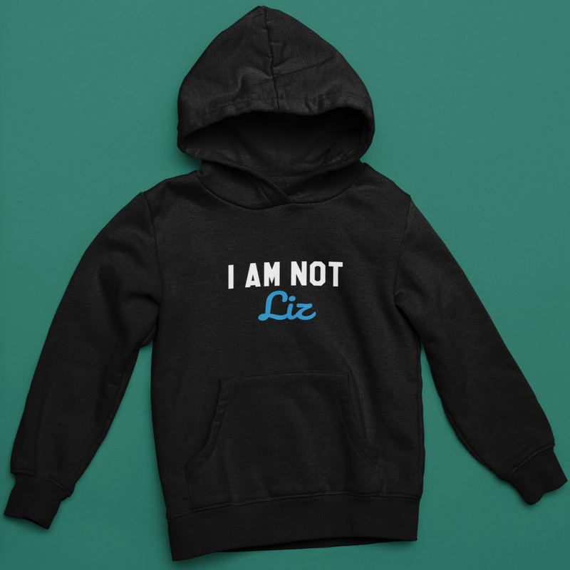 Customizable I AM NOT...  Hoodie (Black)