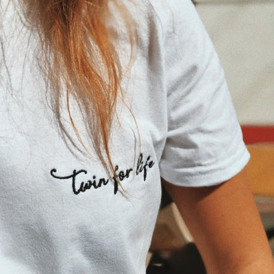 Twin for Life Petite Logo T-shirt (White) - Twinning Store