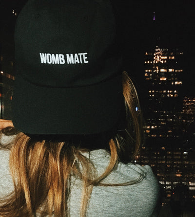 WOMB MATE HAT (BLACK) - Fashion for twins TWINNING STORE