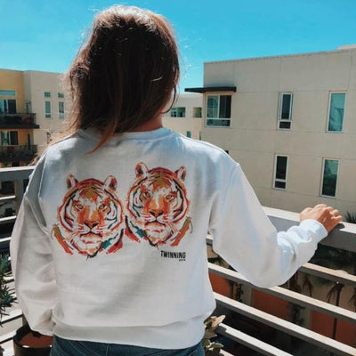 Two/Tiger Twin print sweater (WHITE)