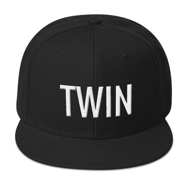 Twin Snapback Hat (Black)