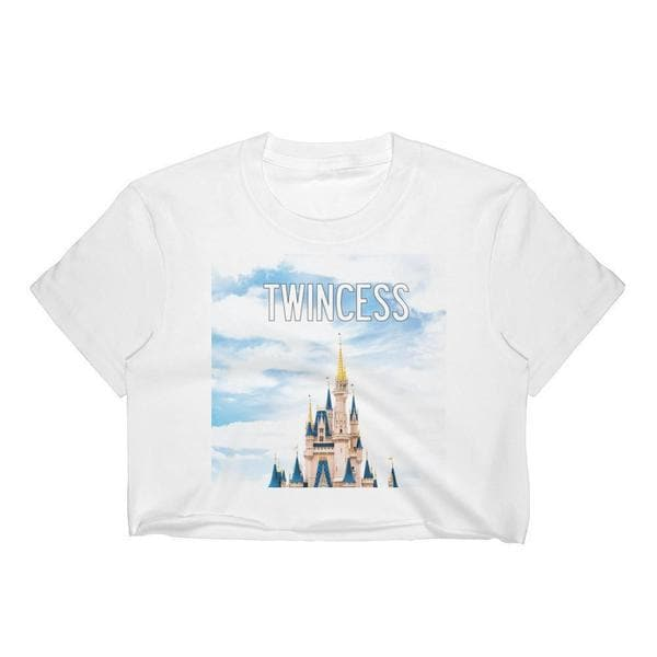 TWINCESS CROP TOP (WHITE) - Fashion for twins TWINNING STORE