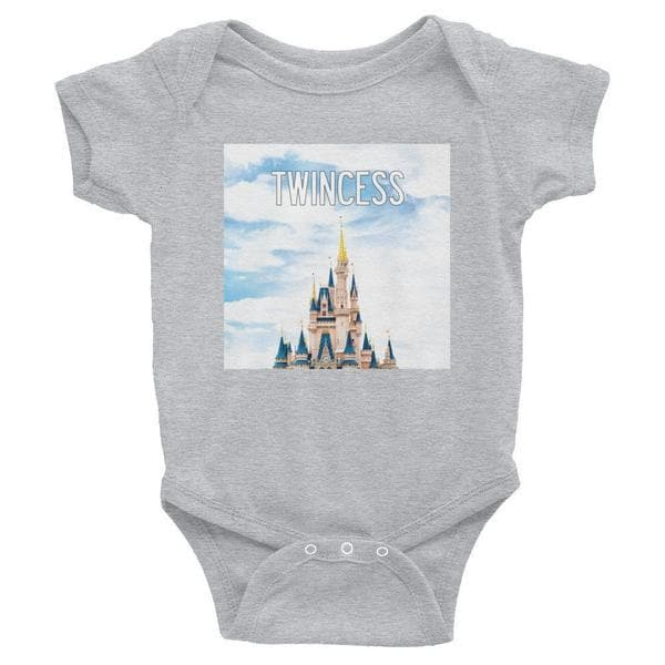 Twincess Baby Onesie (Grey)