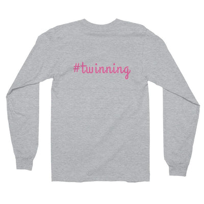 #Twinning Long-sleeve Shirt (Grey)