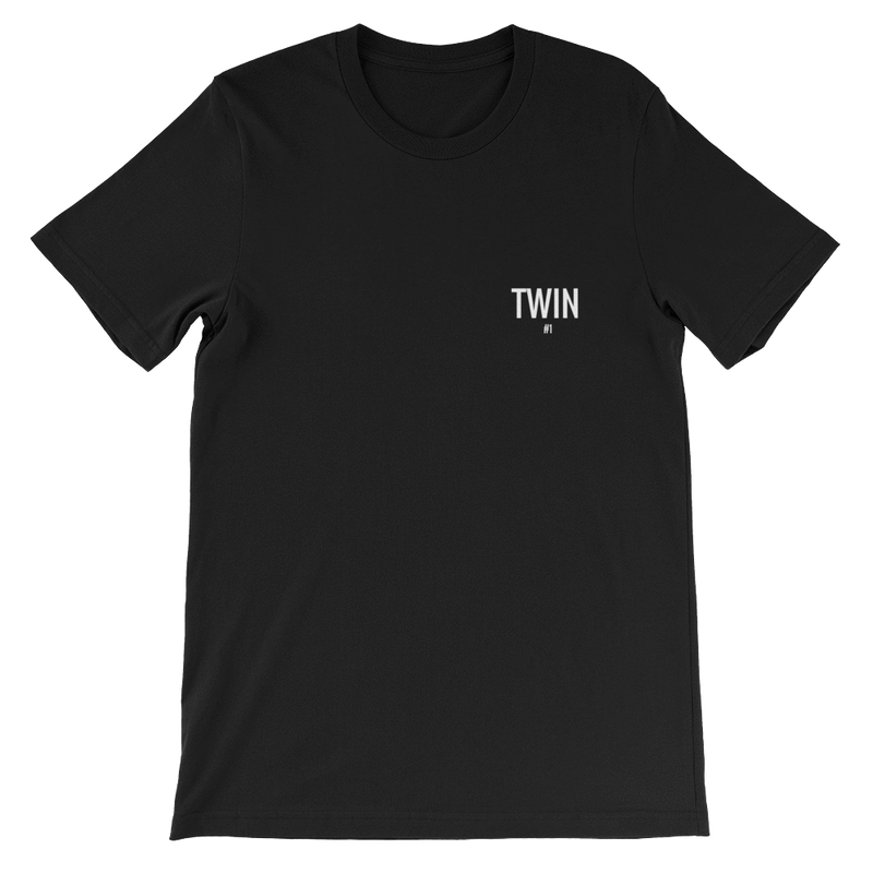 Twin #2 Petite Logo Unisex T-shirt (Black)