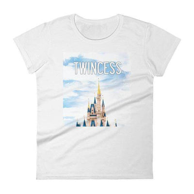 Twincess T-shirt (White) - Fashion for twins TWINNING STORE