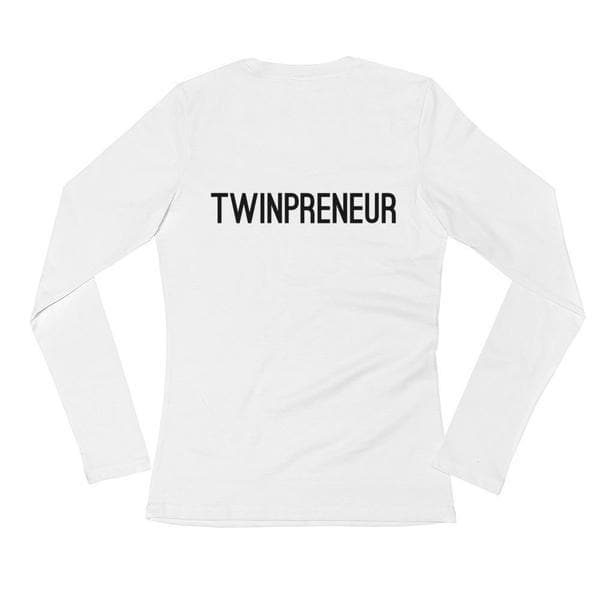 TWINPRENEUR LONG-SLEEVE SHIRT (WHITE) - Fashion for twins TWINNING STORE