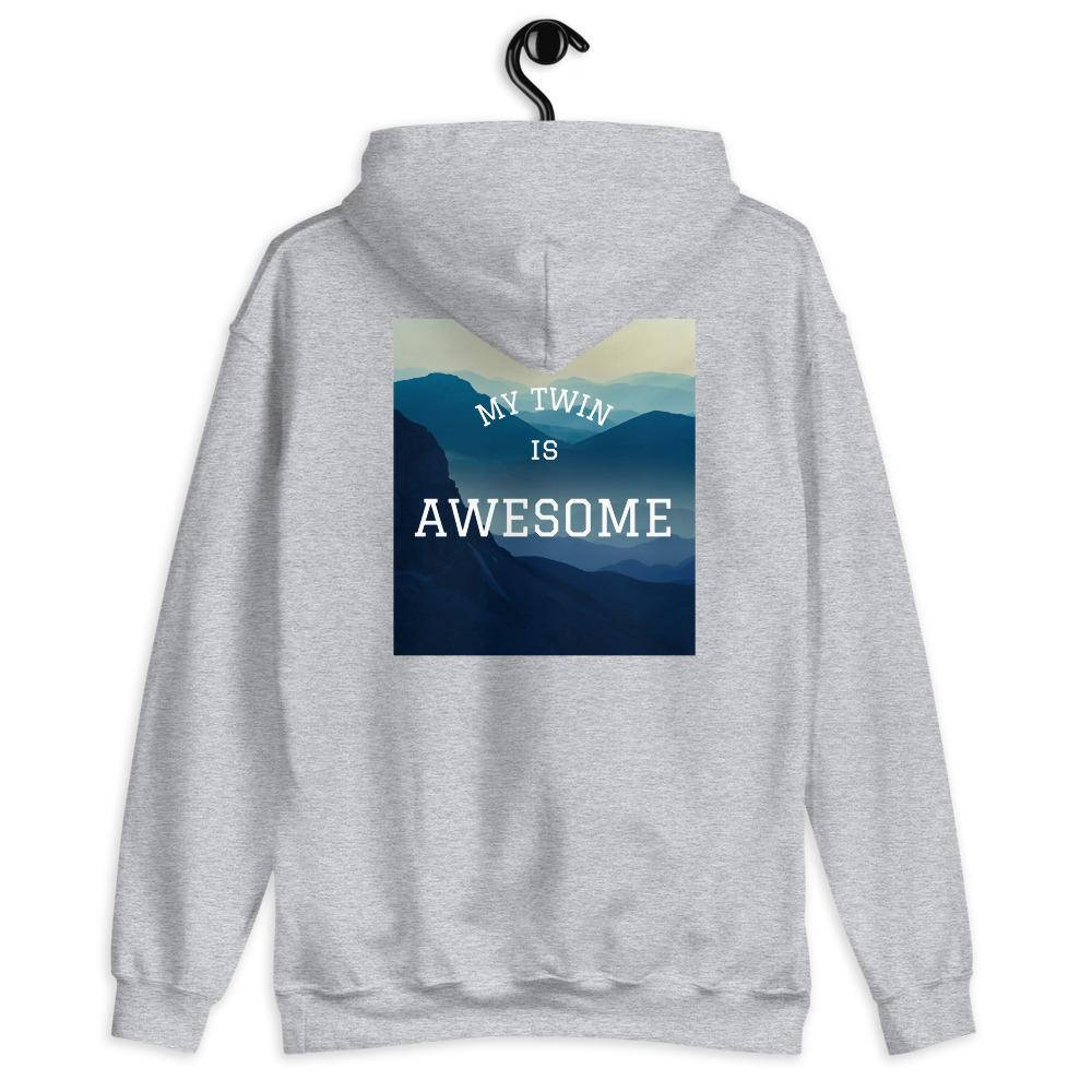 My Twin is Awesome Hoodie (Grey)
