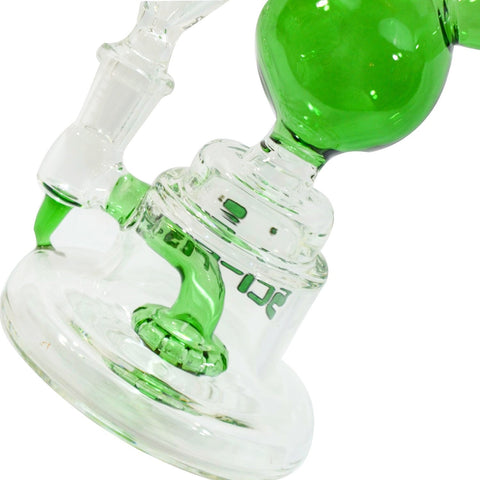 Sci-Fi Futuristic Glass Mini Microphone Water Pipe with Showerhead Perc