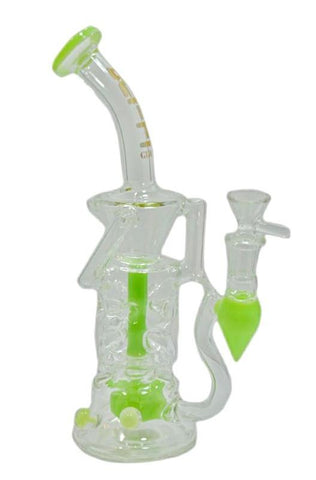 Sci-Fi Futuristic Glass Straight Fab Torus with Recycler