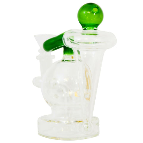 "6"" Thick Globe Recycler Rig with Showerhead Perc"