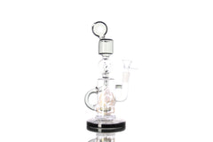 Sci-Fi Futuristic Glass Donut Mouth Dual Recycler with Showerhead Perc