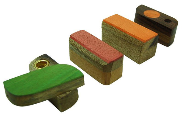 Mini Wood Pure Pipe with Colors