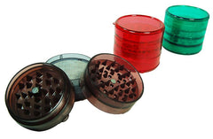 Large 3 Part Plastic Grinder With Lid