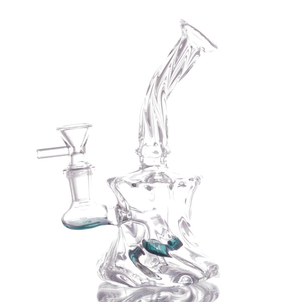 Twsited Glass Tube Banger Hanger with Tyre Perc