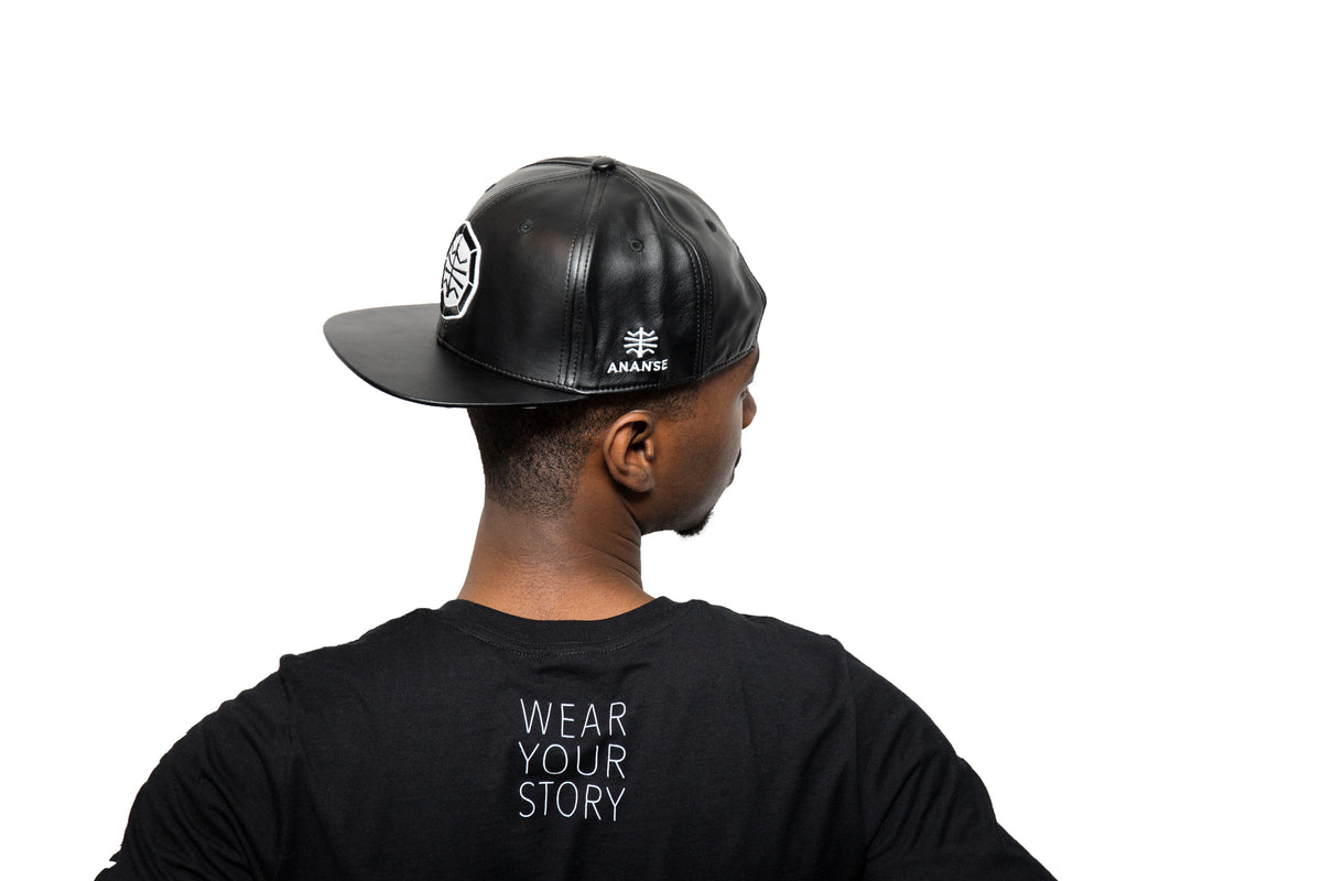 Ananse Ntontan(web) - Leather Snapback