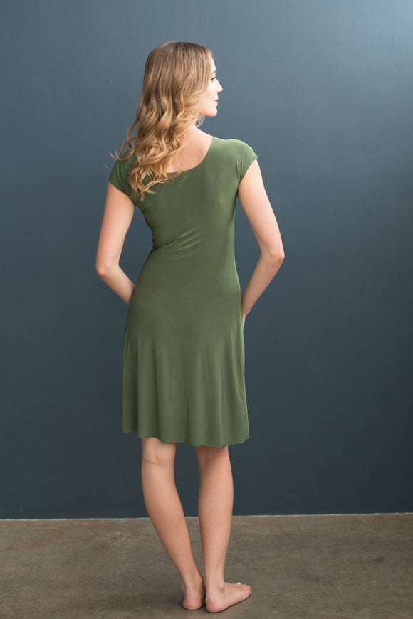 Lizzy Slip Cap Sleeve V-Neck Dress Slip - LE ♥