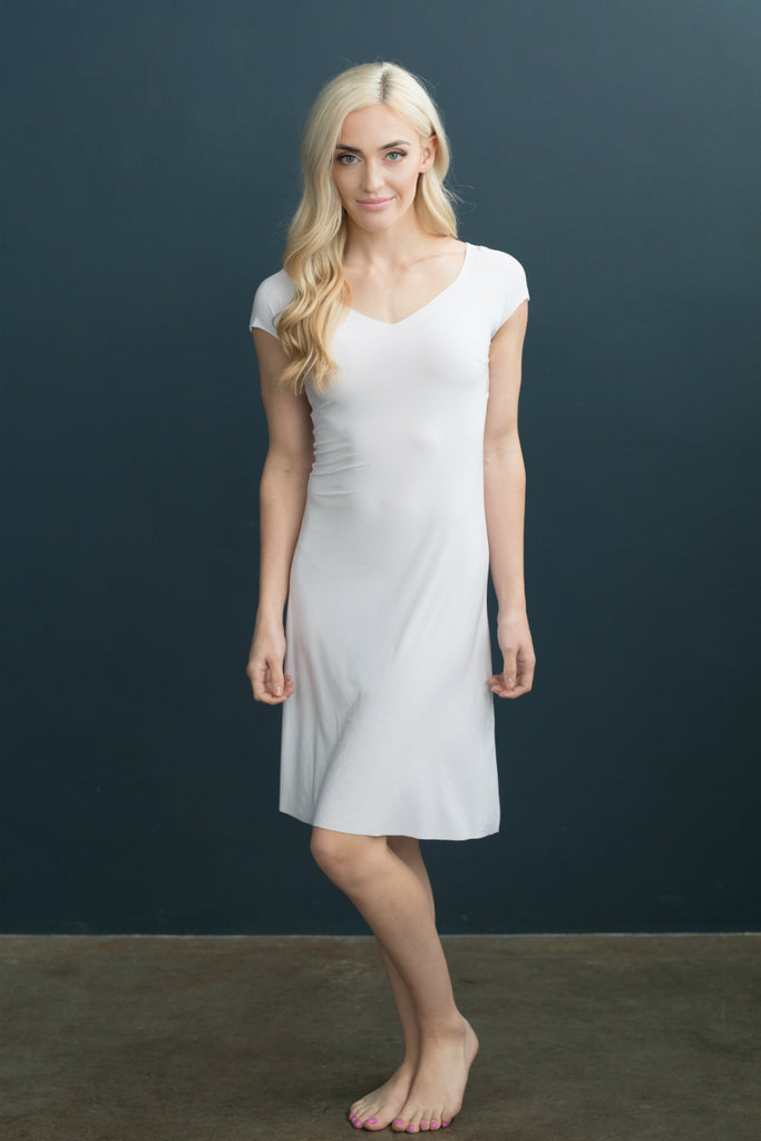 Lizzy Slip Cap Sleeve V-Neck Dress Slip